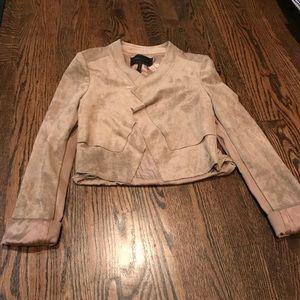 BCBG MaxAzria suede jacket- perfect condition!